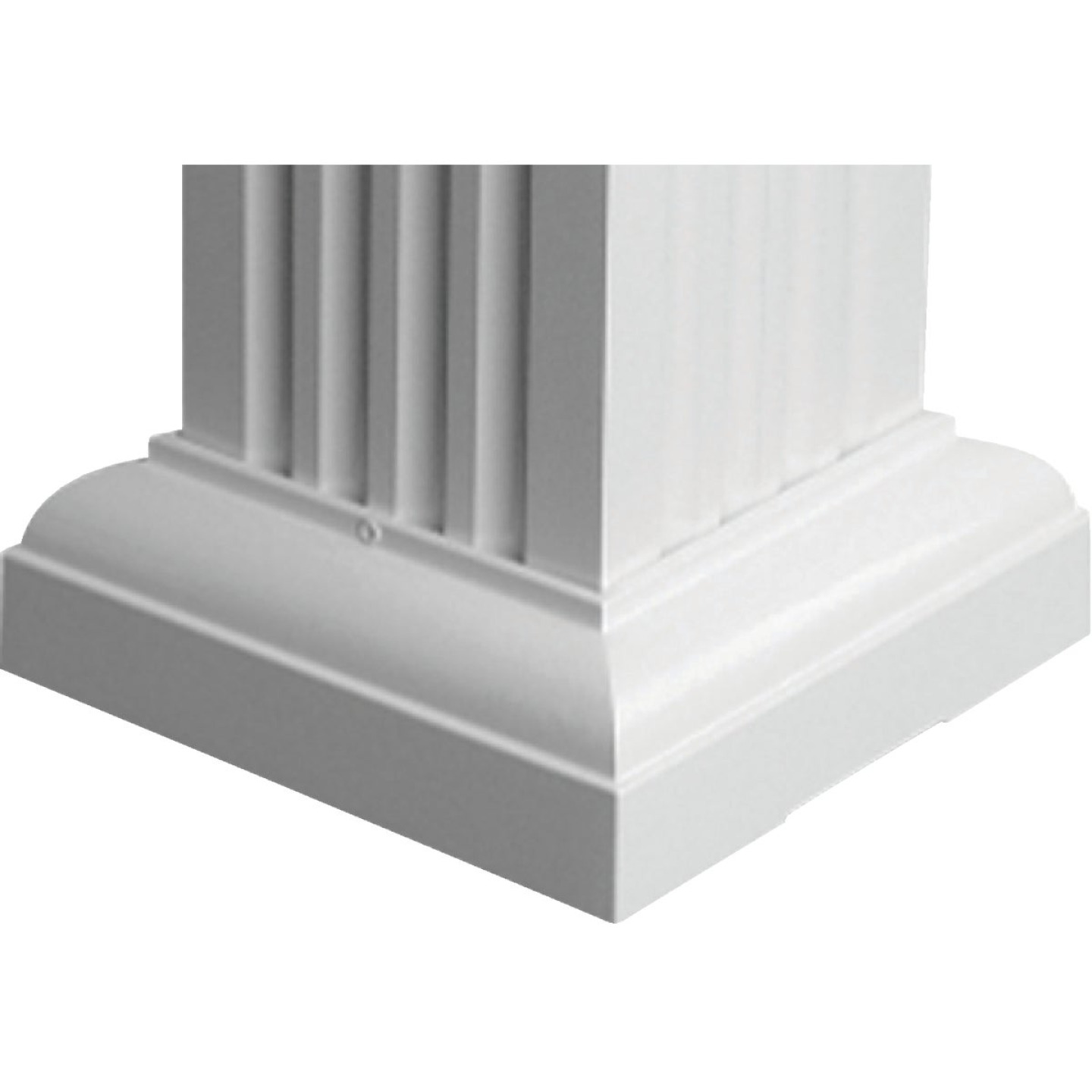 Crown Column 6 In. White Aluminum Standard Cap/Base Image 1