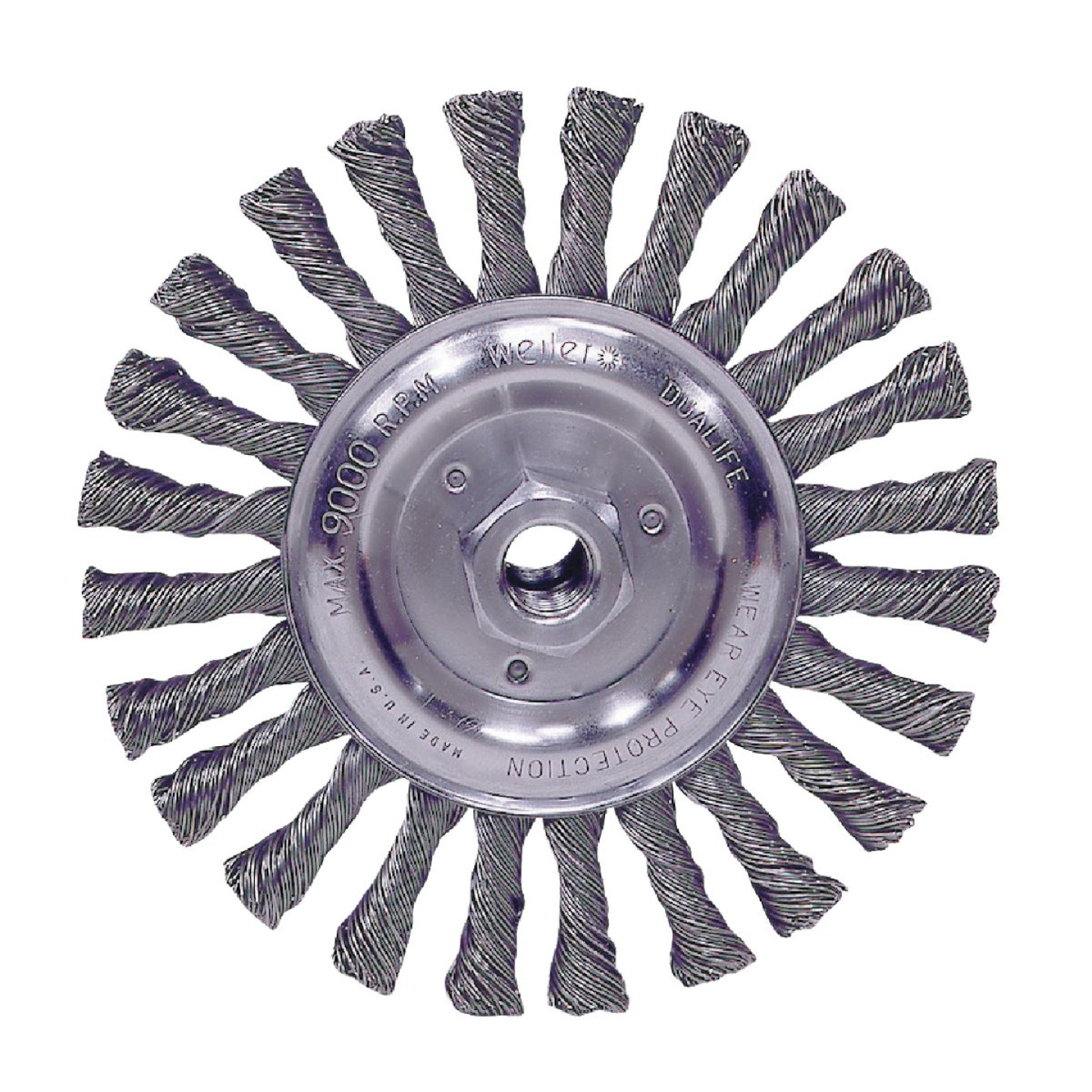Weiler Vortec 6 In. Stringer Bead 0.025 In. Angle Grinder Wire Wheel Image 1