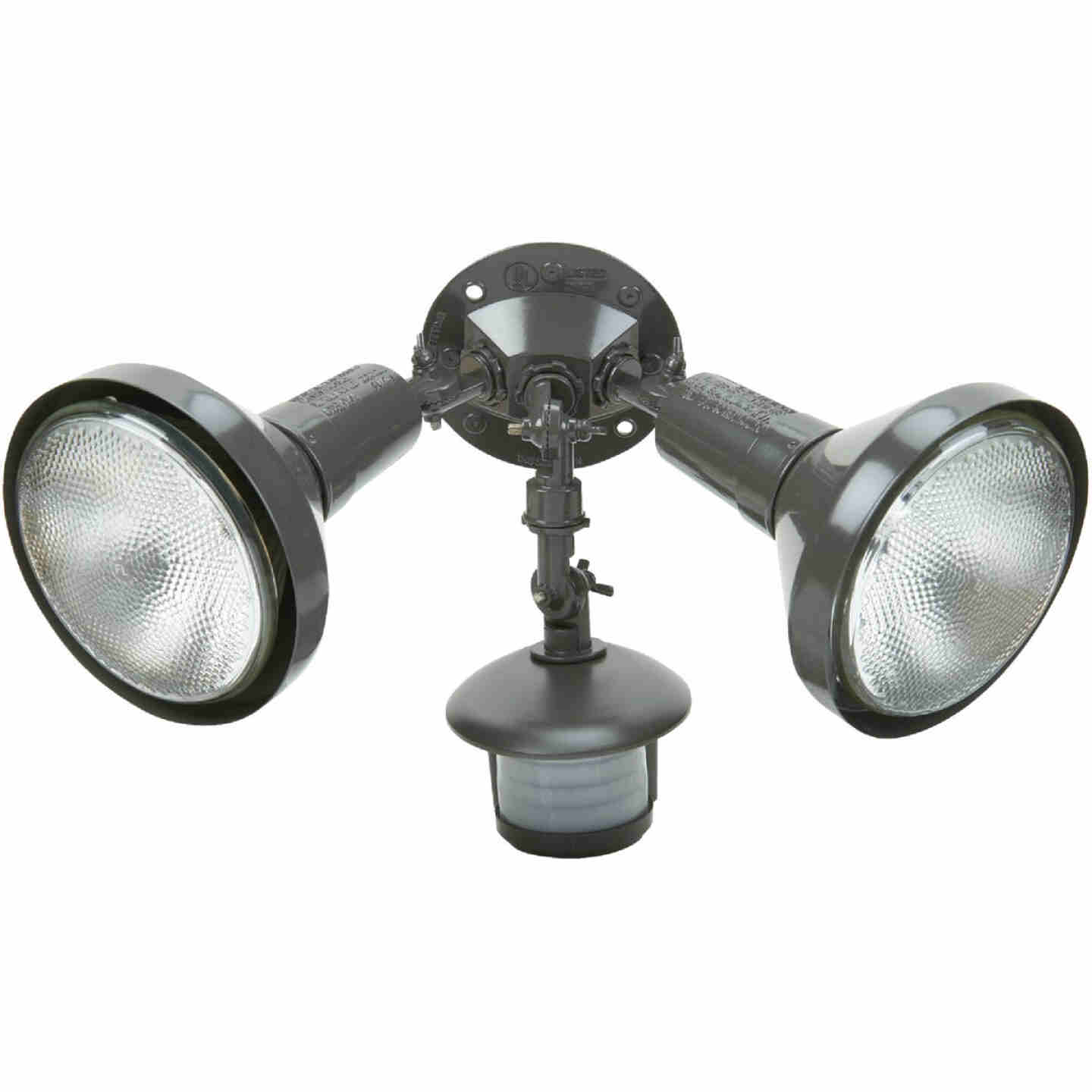 Bronze Motion Sensing Dusk To Dawn Incandescent Floodlight Fixture Image 1