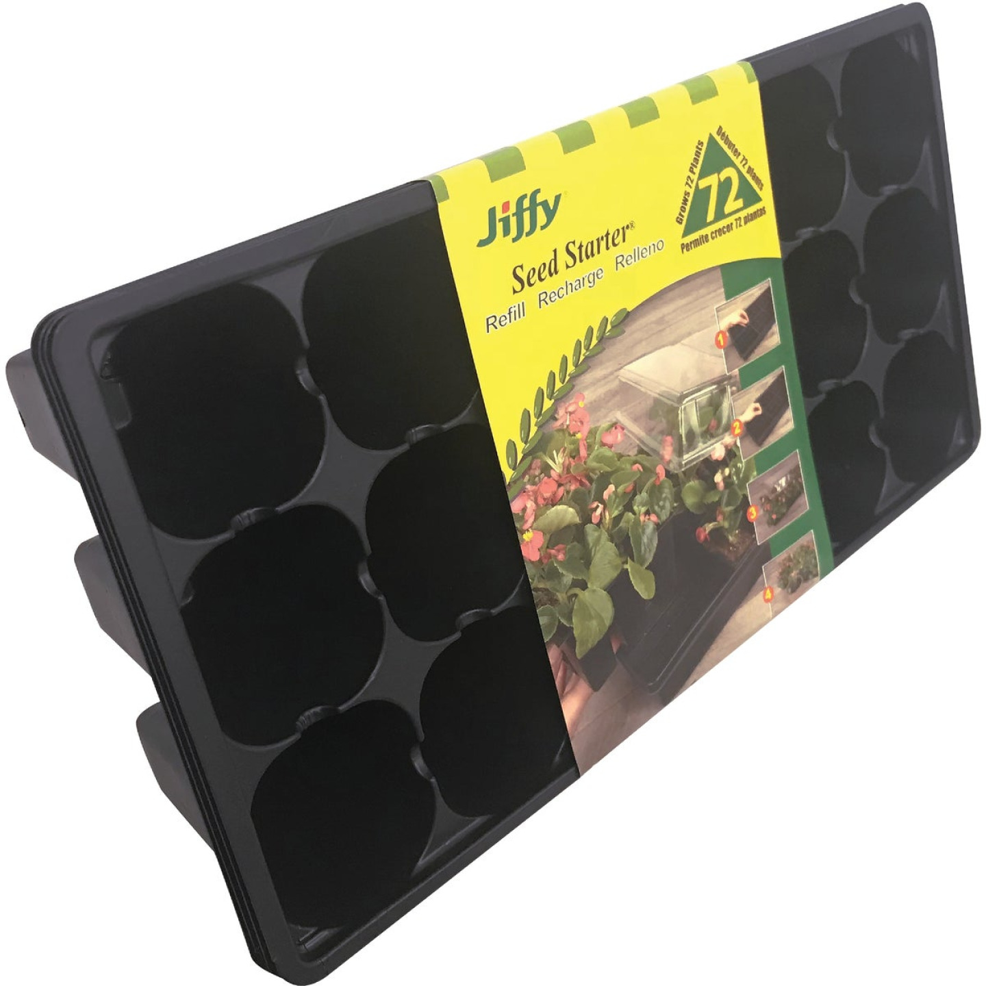 Jiffy 72-Cell Seed Starter Greenhouse Seed Start Kit Refill Image 1