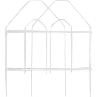 Best Garden 8 Ft. White Galvanized Wire Folding Fence