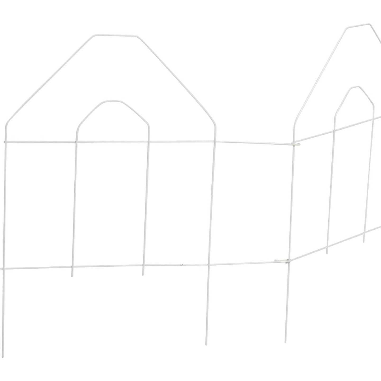 Best Garden 8 Ft. White Galvanized Wire Folding Fence Image 3
