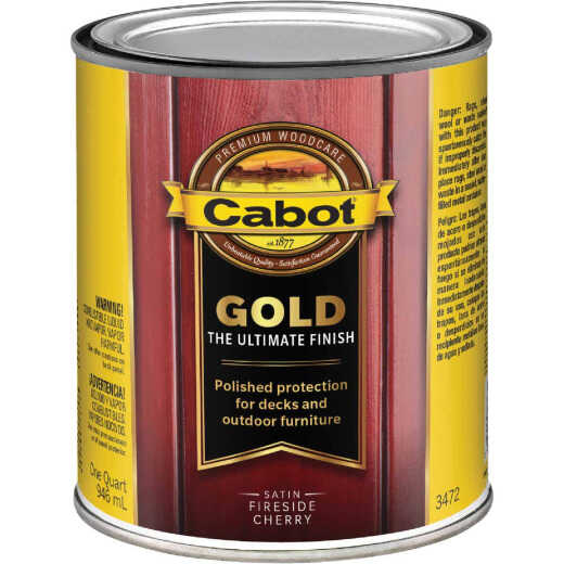 Cabot Gold Exterior Stain, Fireside Cherry, 1 Qt.